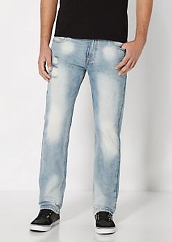 Vintage Distressed Slim Straight Jean