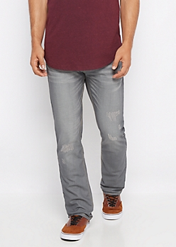 Freedom Flex Gray Coated Slim Jean