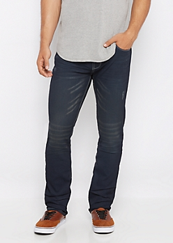 Freedom Flex Navy Coated Slim Jean