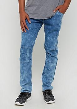 Vintage Washed Moto Slim Jean