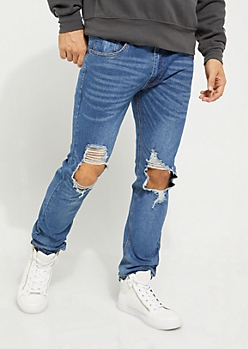 Ripped Thigh Skinny Jean
