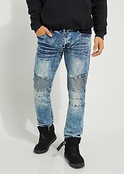 Vintage Baked Moto Skinny Jeans