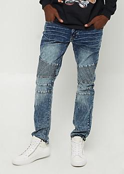 Vintage Nicked Moto Skinny Jeans
