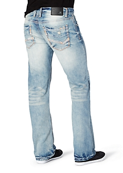 Sandblasted & Stitched Boot Jean