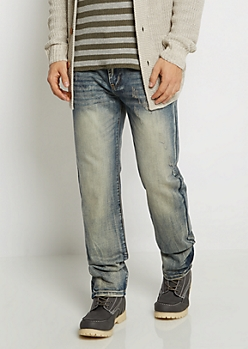 Flex Vintage Nicked Relaxed Straight Jean