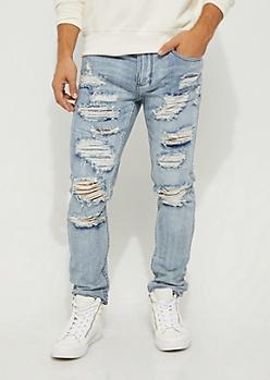 Flex Medium Destroyed & Stitched Skinny Jean
