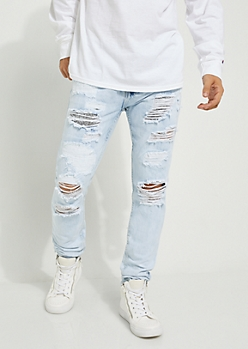 Flex Patched & Destroyed Skinny Jean