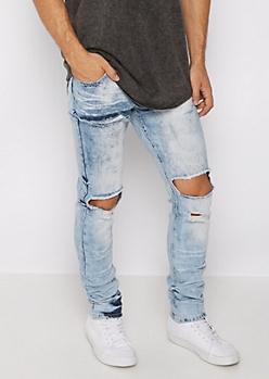 Flex Ripped Knee Vintage Skinny Jeans