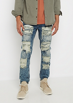 Heavy Ripped & Washed Slim Jean