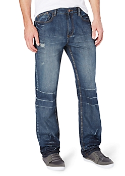 Baked & Distressed Relaxed Straight Jean