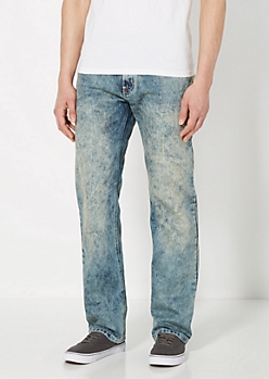 Dirty Washed Slim Straight Jean