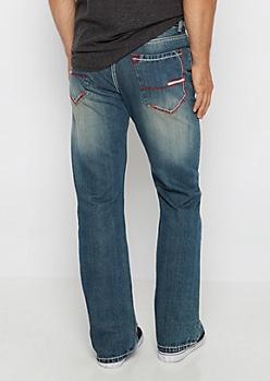 Flex Contrast Stitch Boot Jean