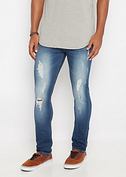 Freedom Flex Medium Distressed Super Skinny Jean