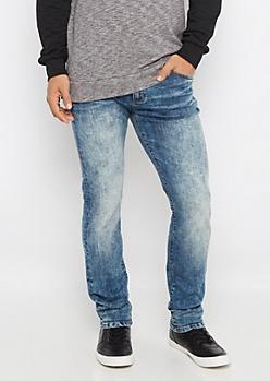 Flex Acid Wash Sandblasted Skinny Jean