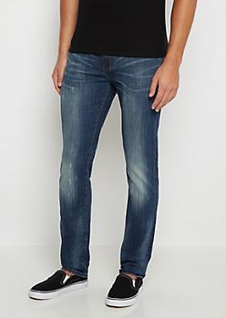 Flex Crackled Sandblasted Skinny Jean