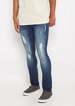 Freedom Flex Dark Distressed Super Skinny Jean