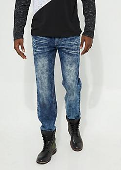 Flex Bleached Medium Wash Bootcut Jeans