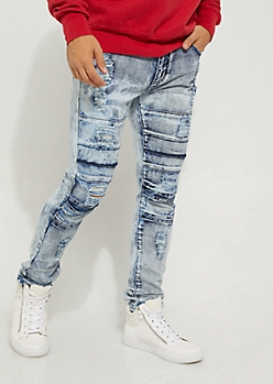 Flex Acid Destroyed Flap Knee Skinny Jean
