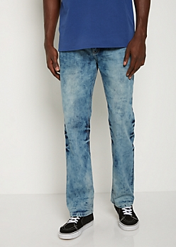 Washed Thick Stitched Bootcut Jean