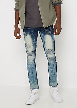 Flex Repaired Moto Skinny Jean
