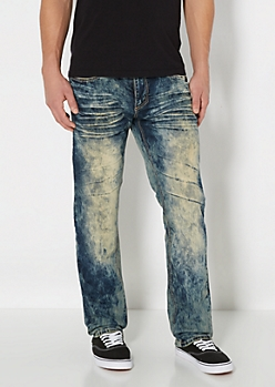 Acid Washed Slim Straight Jean
