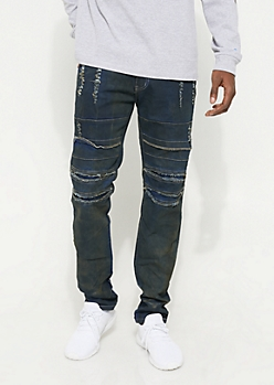 Oil Stained Rip & Repair Twill Pants