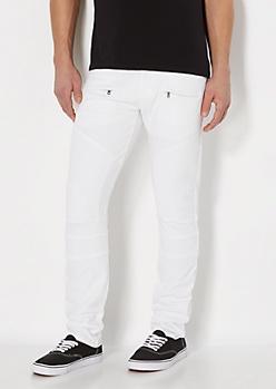 Zipped Moto Skinny Jean