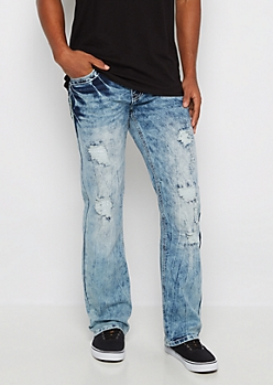 Neon Stitch Bleached Boot Jean