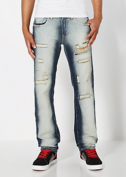 Destroyed Slim Straight Jean