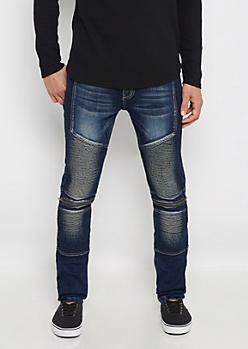 Flex Moto Ribbed Skinny Jean
