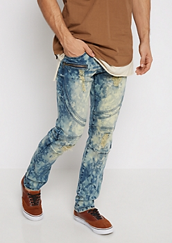 Flex Dirty Washed & Destroyed Moto Skinny Jean