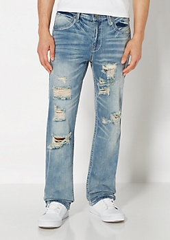 Stitched & Torn Boot Jean
