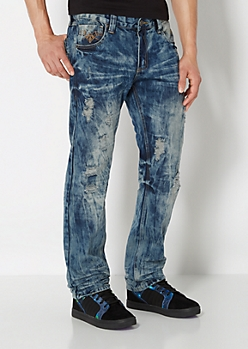 Distressed Slim Straight Jean