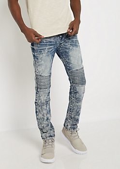 Flex Vintage Washed Moto Slim Jean