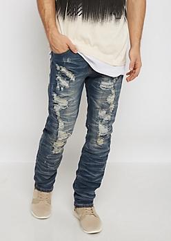 Flex Destroyed & Repaired Slim Jean