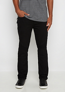 Black Destroyed Moto Slim Jean