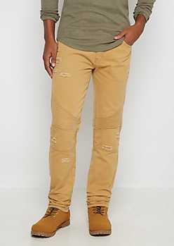 Camel Destroyed Moto Slim Jean
