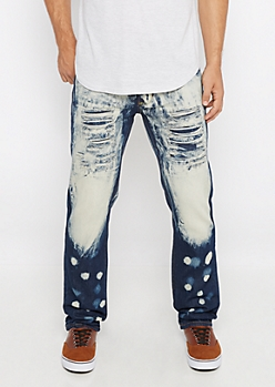 Flex Extreme Bleached Ripped Slim Jean
