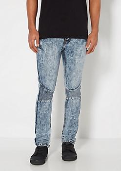 Acid Washed Moto Jean