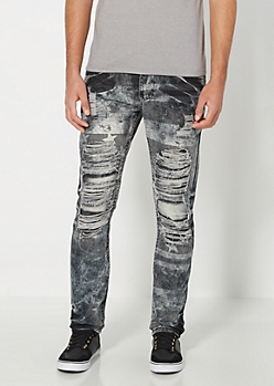 Ripped Cartography Slim Jean