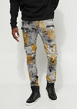 Vintage Rust Washed Stitched Skinny Jean