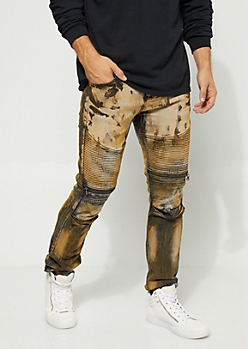 Moto Bleached Skinny Jeans