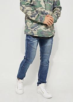 Denim Moto Skinny Jeans