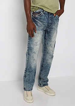 Washed & Nicked Relaxed Straight Jean