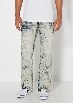 Extreme Acid Wash Relaxed Straight Jean