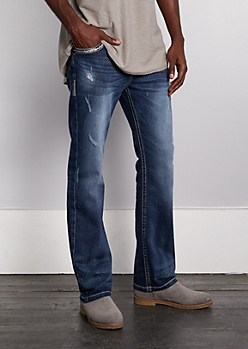 Flex Nicked Thick Stitched Bootcut Jean