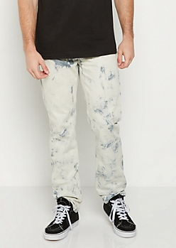 Acid Washed Relaxed Straight Jean