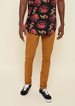 Camel Twill Skinny Pant