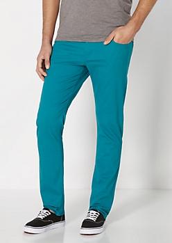 Essential Teal Twill Skinny Pant