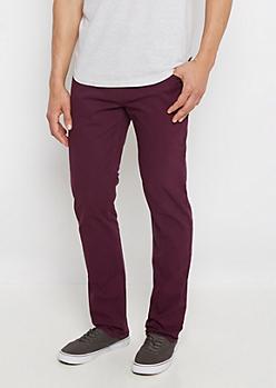 Flex Purple Skinny Twill Pant